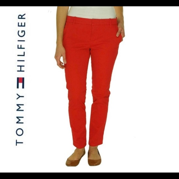 Tommy Hilfiger Pants - Tommy Hilfiger Red Heritage Chino Pants